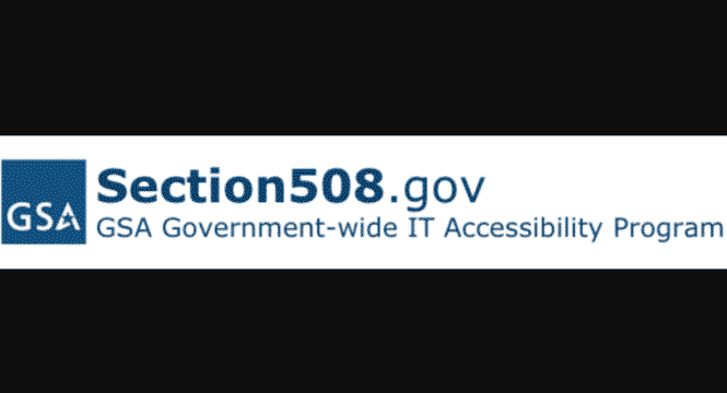 section 508 accessible website